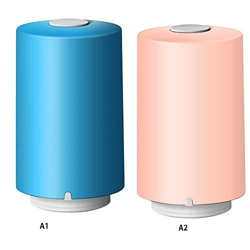 IENPAJNEPQN Tragbare Mini-elektrische Luftpumpe automatische Kompression Vakuumpumpe mit Beutel Lebensmittel Closet Organizer Vakuumbeutel (Color : Blue)