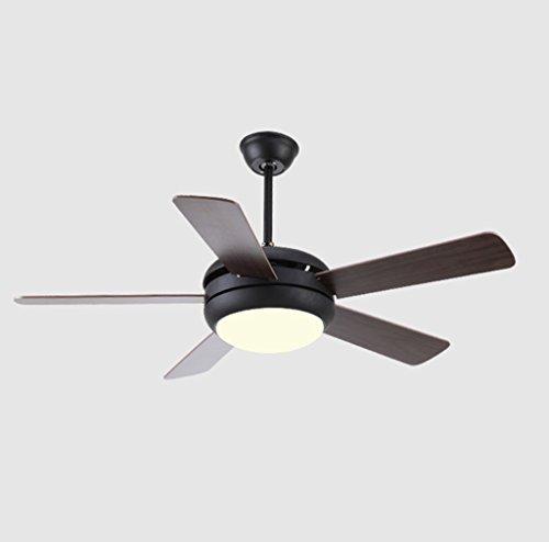 LED Luz de techo / Araña de luces Lámpara de ventilador minimalista moderna minimalista LED de hierro forjado + Lámpara de ventilador de la tienda de fábrica de madera de oficina en casa -132cm Nivel