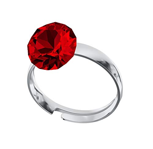 Crystals & Stones Ring *XIRIUS* *VIELE FARBEN* Swarovski® Elements - 925 Sterling Silber Damen Ring Größe Verstellbar! Sheer elegante Ring! PIN/75 (Light Siam)