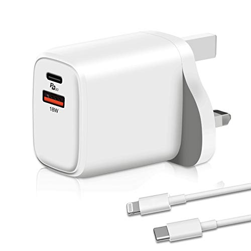20W USB C Fast Charger, aifulo 2-Port Power Delivery and Quick Charge 3.0 Wall Charger Compatible with iPhone 12/12 Mini/12 Pro/12 Pro Max,11/11Pro Max, XS/XR/X, iPad Pro, Samsung Galaxy and more