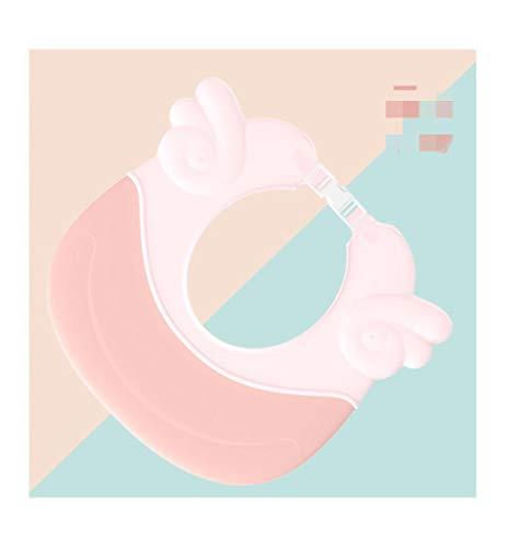 Baby shampoo Artefakt waterdichte gehoorbescherming, kleine kind badkamer wassen haar badkamer hoed instelbaar roze