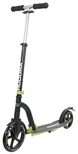 HUDORA Big Wheel Bold Cushion Tret-Roller mit Stoßdämpfung, grün / schwarz, 14242