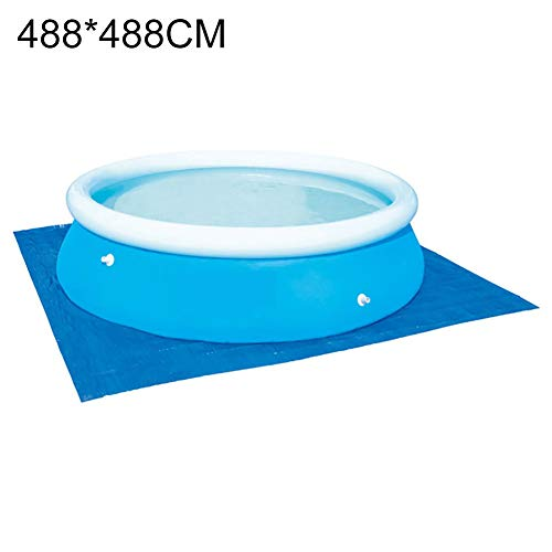 Vwlvrsco 4 Size Square Thickened Inflatable Adult Kid Swimming Pool Ground Cloth Floor Sheet Protector Mat 488cm488cm