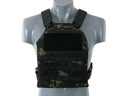 8FIELDS Simple Plate Carrier + Dummy Soft Armor Inserts Tactical Molle Vest Kampfweste