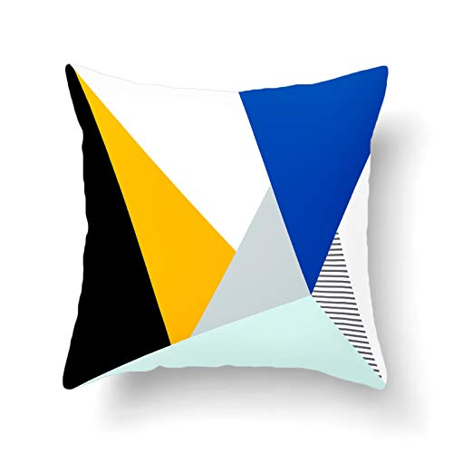 Funda De Almohada Decorativa De Franela Gruesa, Funda De Cojín con Patrón Geométrico, Funda Trasera para Silla De Oficina, Funda De Almohada para La Cabeza del Sofá Cama para El Hogar