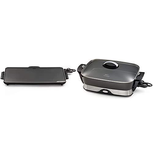 """Presto Slimline Griddle, Black, 22"""" & 06857 16-inch Electric Foldaway Skillet, Black"""