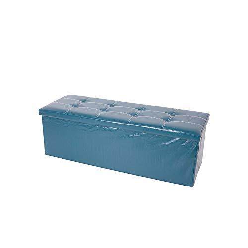 rebecca mobili Puff Asiento Reposapiés Organizador Puf almacenaje Dormitorio 38 x 110 x 38 cm (Cod. RE4912)