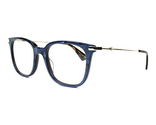 Gucci - Montura de gafas - para hombre Azul Marmor Stil Blau Small
