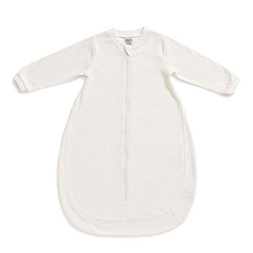 Jacky Unisex Baby Innen-Schlafsack, Unwattiert, Alter: 0-2 Monate, Größe: 50/56, Farbe: Weiß/Beige, 350008