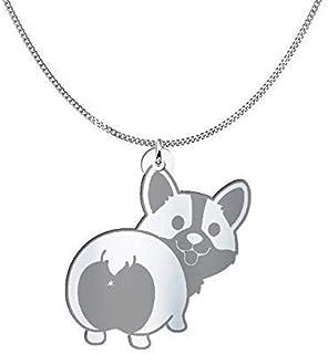 Collana cane Corgi, Sterling Silver o placcato oro 18K, gioiello regalo amicizia, migliori amici, regalo festa della mamma