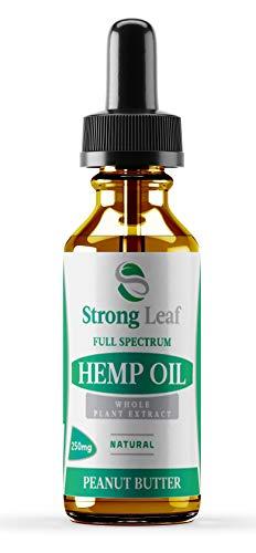 Aceite de cáñamo de hoja fuerte (10 ml) - Extracto de espectro completo orgánico Co2, ideal para el dolor, la ansiedad y el alivio del estrés, fabricado en el Reino Unido