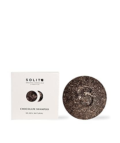 60 gr. Champú sólido - Chocolate - Ideal para pelo dañado - 2 en 1 Nutrición y Brillo - Libre de Tóxicos y Parabenos - 100% Vegano y Biodegradable - de Solito