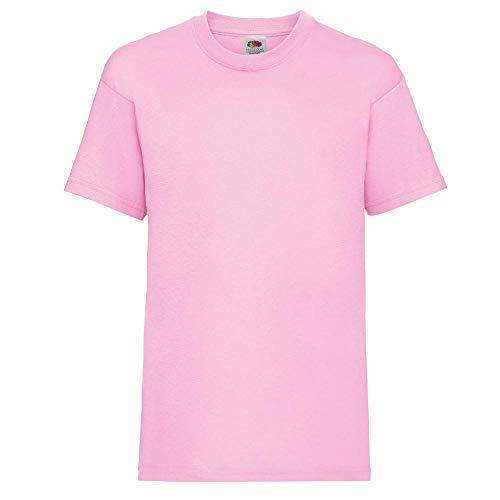 Fruit of the Loom Jungen T-Shirt, Light Pink, 7 Jahre