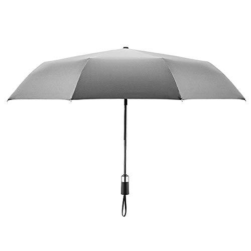 Big seller Regenschirme Automatischer Regenschirm faltbar, Winddicht, Männer und Frauen (Farbe : Silber)