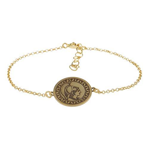Córdoba Jewels |Pulsera en Plata de Ley 925 con bañada en Oro con diseño Denario Gold