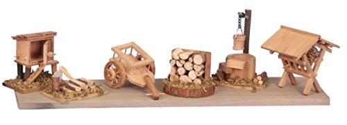 Krippenzubehör 6-tlg. Krippe Zubehör aus Holz