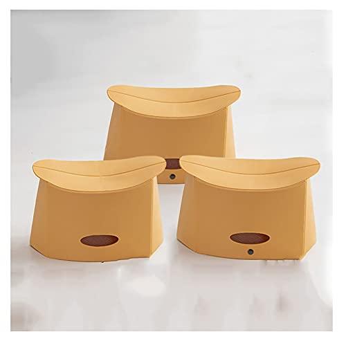 LJWLZFVT Silla Plegable Compacto y Ligero Taburete Plegable para Acampar Taburete de plástico portátil para niños Taburete bajo para Adultos del hogar Adecuado(Size:32X17X18CM,Color:yellow3) ⭐