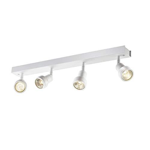 SLV LED Strahler PURIdreh- und schwenkbar   Dimmbare Wand- und Deckenleuchte zur Beleuchtung innen   LED Spot, Deckenfluter, Deckenstrahler, Decken-Lampen, Wand-Lampe   4-flammig, GU10, EEK bis A++