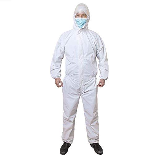 LLC-POWER beschermende werkkleding, wegwerp medische ward eendelige isolatie kleding, anti-stof en anti-statisch, voor poliklinische barrière, elastische manchetten, enkels, taille, XXL