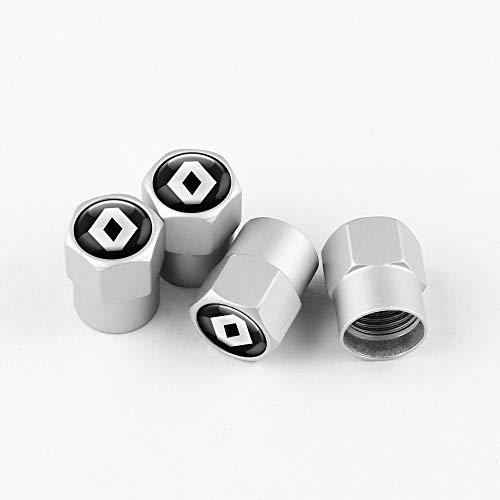 Tapas de válvula de neumático Coche de estilo coche rueda de neumático Válvula de neumático Tapas de tallo Cubierta de piezas automáticas Compatible con Renault Megane Duster Logan Laguna Captur Acces