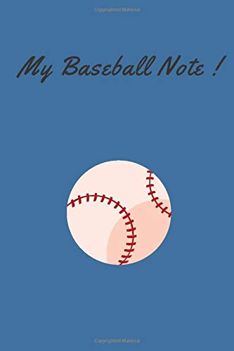 My Baseball Note: Lined Notebook / Journal Gifts, 100 Pages, 6x9, Soft Cover, Matte Finish