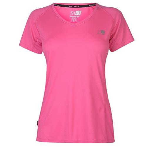 Karrimor Damen Kurzarm Laufen T Shirt Jogging Top Sportshirt Laufshirt Rosa 18 (XXL)