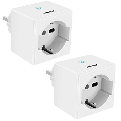 Enchufe inteligente de Wlan JuoYou 2020, interruptor táctil, versión Smart Home, 16 A, 3400 W, mini enchufe inteligente, funciona con Alexa, Google Home, 2 unidades