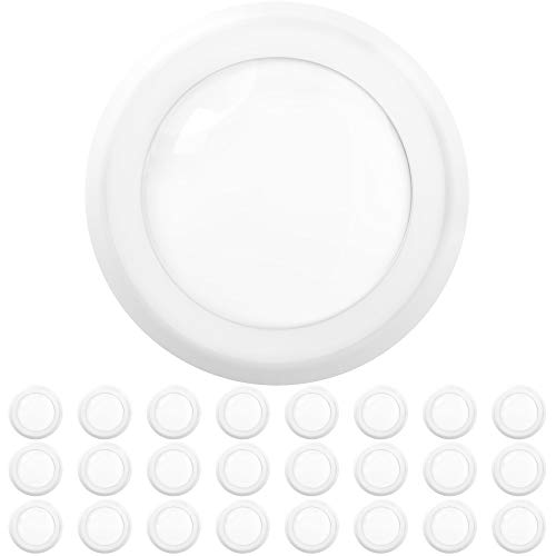 Sunco Lighting 24 Pack 5 Inch / 6 Inch Flush Mount Disk LED Downlight, 15W=100W, 2700K Soft White, 1050LM, Dimmable, Hardwire 4/6
