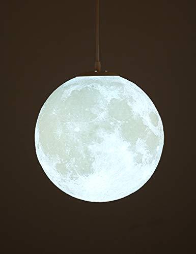 Lámpara de Luna LED con Estampado 3D Lámpara de Techo Colgante Luz de Luna Luz Nocturna para Habitación de Niños Restaurante Habitación Sala de Estar 20CM