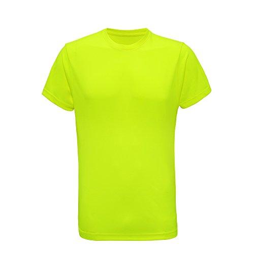 Tri Dri T-Shirt de Fitness à Manches Courtes - Homme (L) (Jaune Fluo)