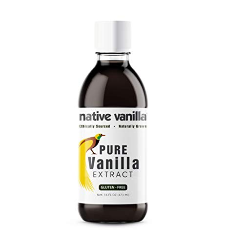 Native Vanilla - All Natural Pure Vanilla Extract – 16 oz - Made from Premium Vanilla Bean Pods – For Chefs and Home Cooking, Baking, and Dessert Making