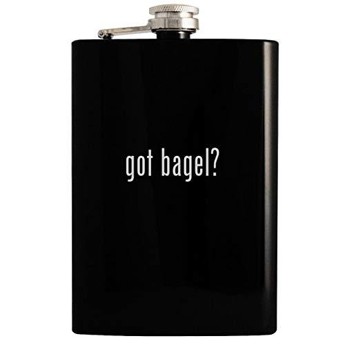 got bagel? - Black 8oz Hip Drinking Alcohol Flask