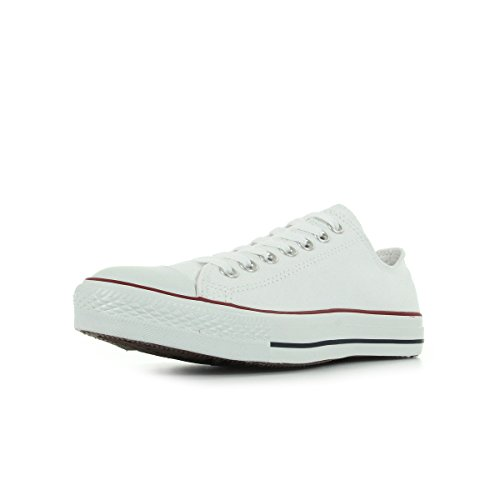 Converse Unisex Chuck Taylor All Star Low Top Optical White Sneakers - 5 Men 7 Women