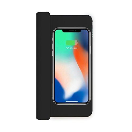 ZENS autolader met 5200 mAh powerbank voor smartphones met Qi-standaard zoals bijv. Apple iPhone X / 8 / 8 Plus, Samsung Galaxy S9 (Qi gecertificeerd, anti-slip design, extra USB-aansluiting) - ZECC02B/00