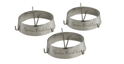 Steven Raichlen SR8033 Grillring, klein, roestvrij staal met doorn (3-pack), zilver, 8,79 x 8,79 x 12,6 cm