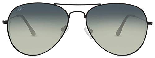 DIFF Eyewear - Cruz - Designer Aviator Sunglasses for Men & Women - 100% UVA/UVB [Polarized]