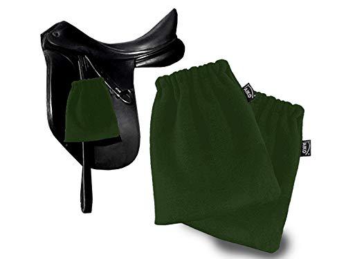 Aiko Protectores de estribos para estribos (forro polar, 1 par), color verde