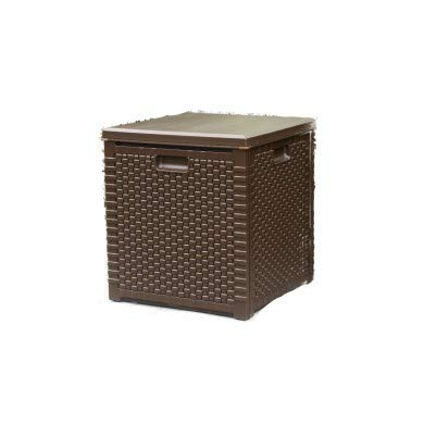 groundlevel.co.uk Amazing Weatherproof Outdoor Garden Storage Box - Brown Small