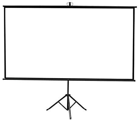 Moshanghua Soporte de la Pantalla de proyección, Soporte de proyección en Pantalla, Soporte móvil HD proyector de Exterior portátil, sin Taladro,195 * 90CM