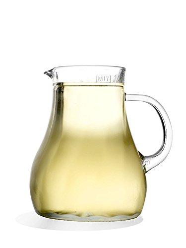 Stölzle Oberglas Salzburg Karaffe Wasserkrug Weinkrug Spiraloptik 1l, 1 Stück, spülmaschinenfest, hochwertige Qualität