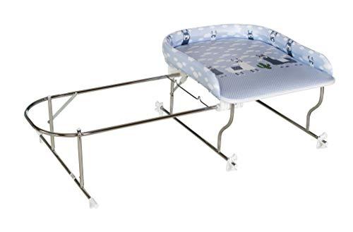 Geuther - Bade-Wickel-Kombination Varix, ohne Badewanne, für Badewannen mit Innenmaß 50 - 68 cm tiefe, Lama