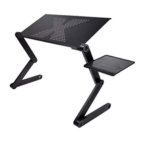LWW Portable Adjustable Laptop Table,for Foldable Laptop Desk,Computer Mesa para Notebook Stand Tray for Sofa Bed a/Black / 52.5x26.4x5cm