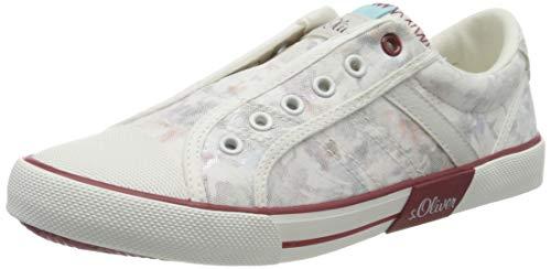 s.Oliver Mädchen 5-5-54200-24 Slip On Sneaker, Weiß (Wht Flower Cb. 154), 39 EU