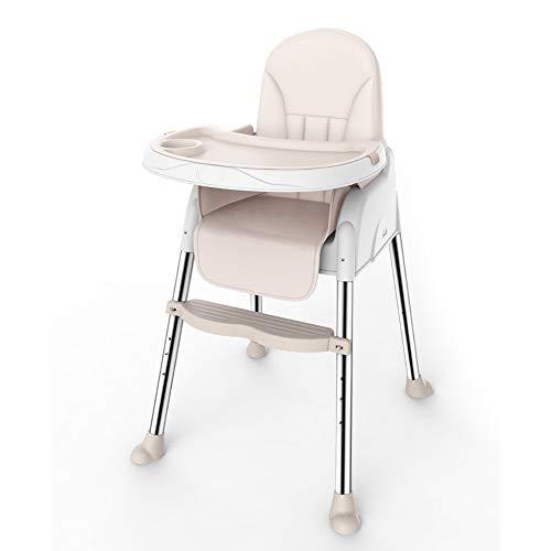 ZCFXGHH Baby multifunctionele stoel, opvouwbare babyeettafel, draagbare kindereetkamerstoel, verstelbare tafeltjes