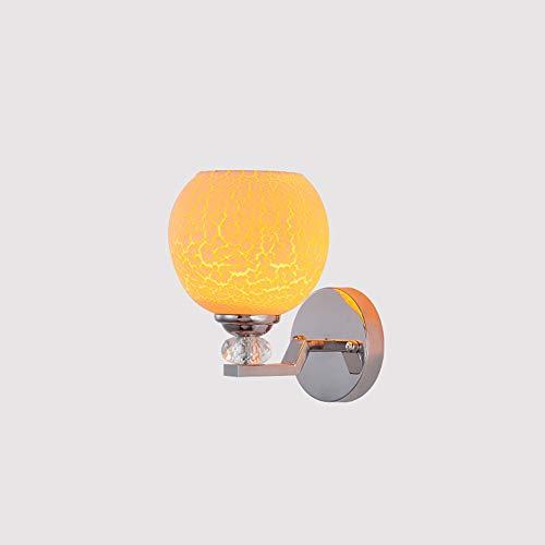 DSYADT Lámpara de Pared de Vidrio Lámpara de Pared Moderna de 8W Accesorio E27 Luz puntual Lámpara de Noche para Sala de Estar Dormitorio Pasillo Escalera Camino 1 Lámpara/Diámetro: 13.8cm