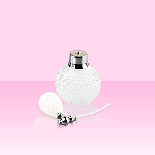 ATIN Crystal Perfume Vintage Bottle Spray Atomizer Glass Bottle 100ml Lady Gift White