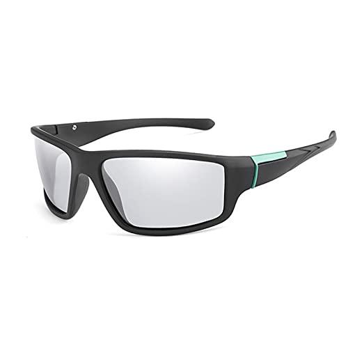 JTXQSI Gafas de Sol de Ciclismo Gafas de Ciclismo fotocrómica Bicicleta Bicicleta Deportes Hombre Ciclismo Vidrios Ciclismo Gafas de Sol Gafas de Sol (Color : Green)