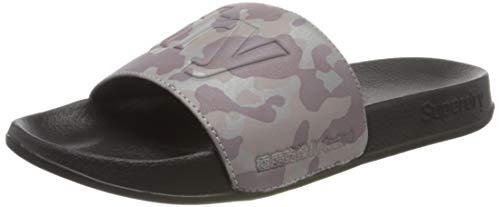 Superdry Damen Reflective Pool Slide Zehentrenner, Grau (Grey Camo Ikt), S