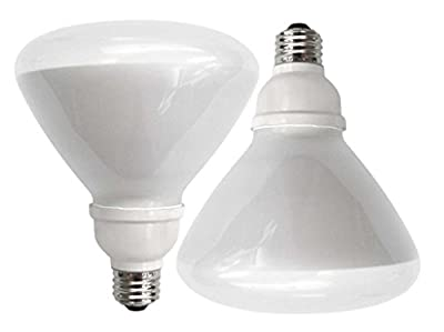 TCP 6R4016TD CFL TruDim Dimmable R40 - 75 Watt Equivalent (only 16W used) Soft White (2700k) Dimmable Covered Flood Light Bulb
