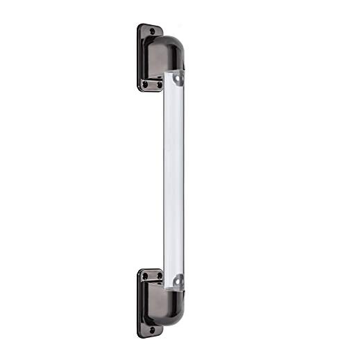 RV Entry Door Acrylic Grab/Assist Handle | Black | 7000-3 | Straight Bar Style Entry Assist Handle | Assist Rail Replacement (Non-Lighted)
